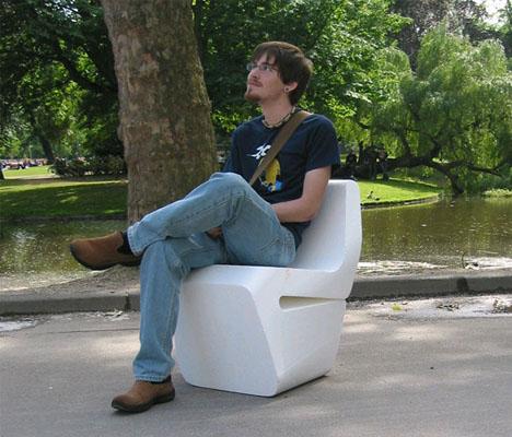 styrofoam 3d cut chair