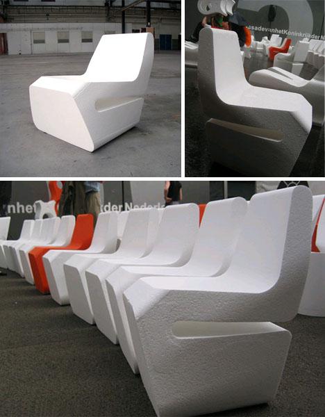 styrofoam digital chair design