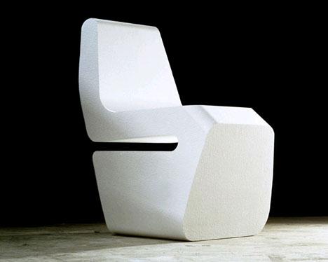 styrofoam laser cut chair