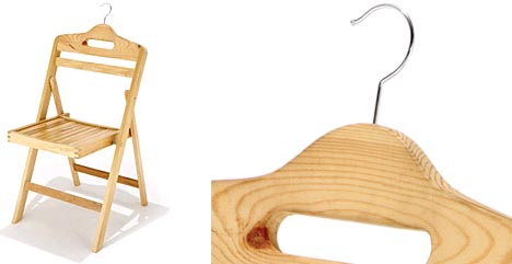 Cheap Wood Folding Chair Doubles As A Double Use Hanger