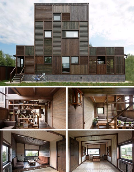 wooden vacation home