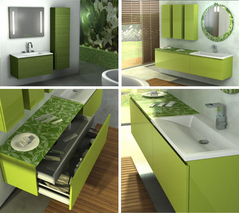 bathroom color green