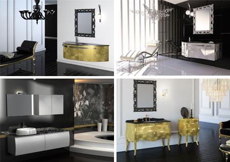 bathroom color silver gold