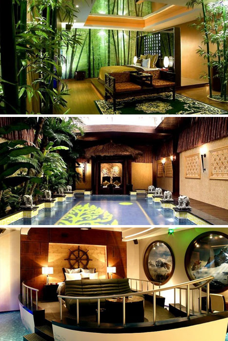 Bedroom Design Exotic Themed