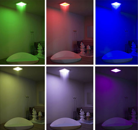 color changing ceiling shower