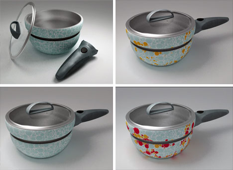 color changing cooking pot