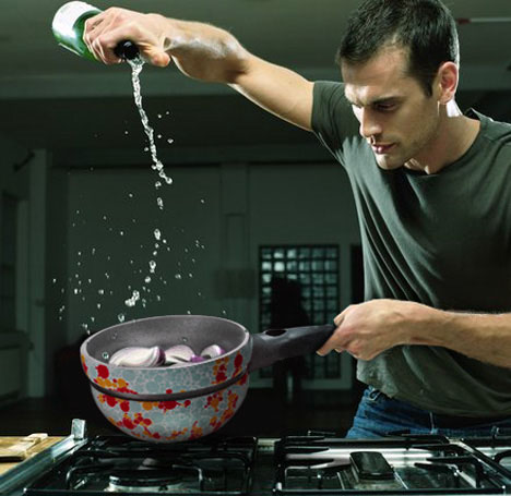 color changing cookware