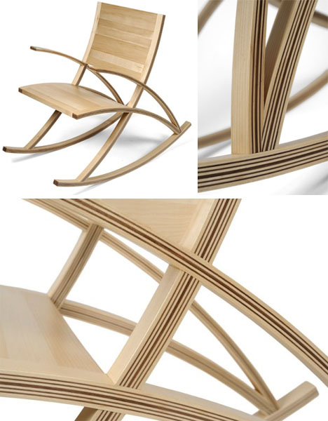 contemporary modern rocking chair