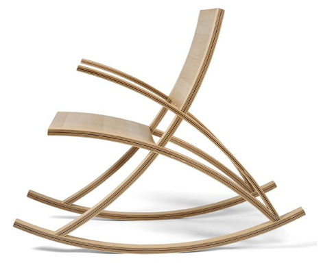 contemporary wooden rocking chair