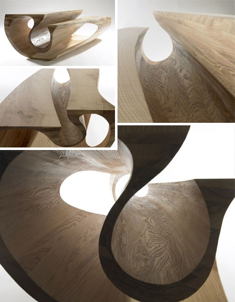 crafted wood furniture sculpture