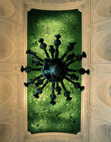 creative beetle ceiling art
