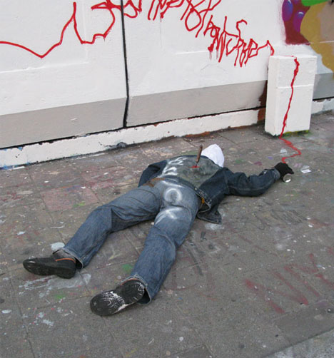death by art graffiti