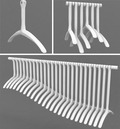 designer clever coat hangers