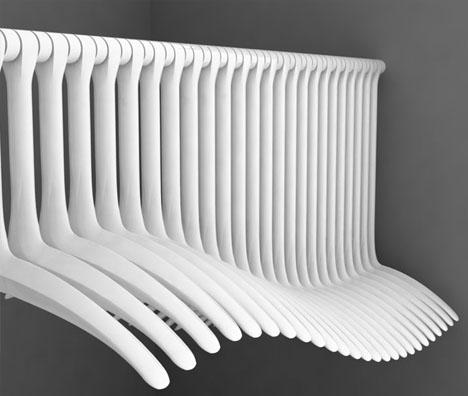 Cheap plastic posh curves clever clothes hanger set - Designer clothes rack ...
