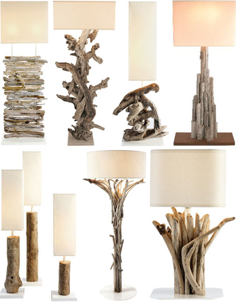 driftwood table lamp stands