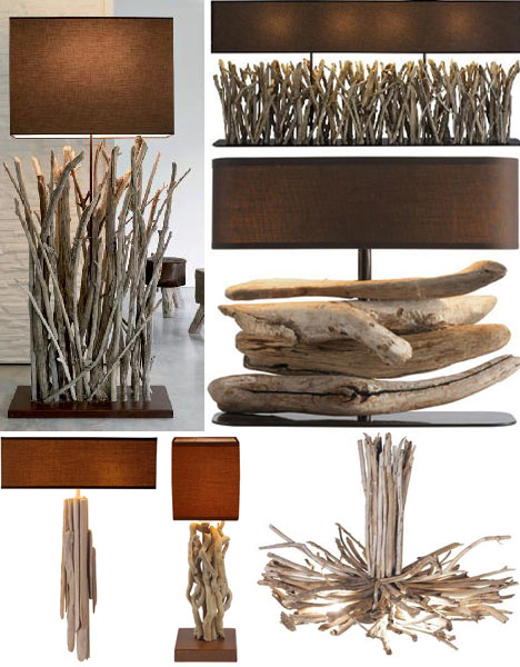 drifwood lamps and lighting