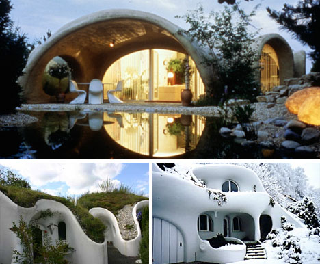 Going Green Underground Eco Retro Earth House Designs
