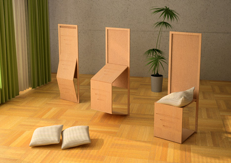 Bamboo(zle): Folding Dining Chairs + Room Divider Design ...