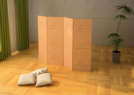 folding interior room screen