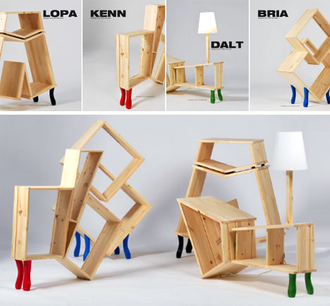 Funny furniture Design Hacked Wooden Ikea Furniture Dornob Ikea Gone Insane Funny Strange Hacked Furniture Set