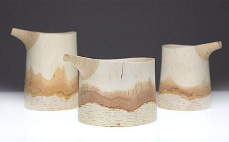 hand carved log bowls