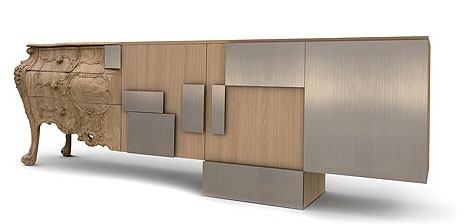 Post Modern Wood Furniture con)fused furniture design: hybrid historic+modern style
