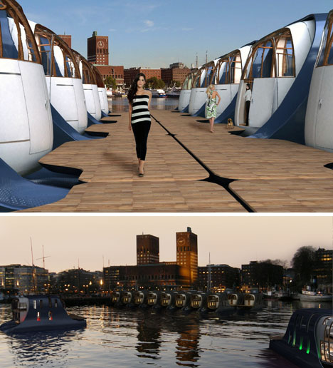 houseboat community design idea