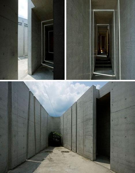 modern cast concrete walls