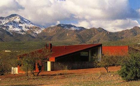 Hidden luxury modern underground high desert home for Desert house plans