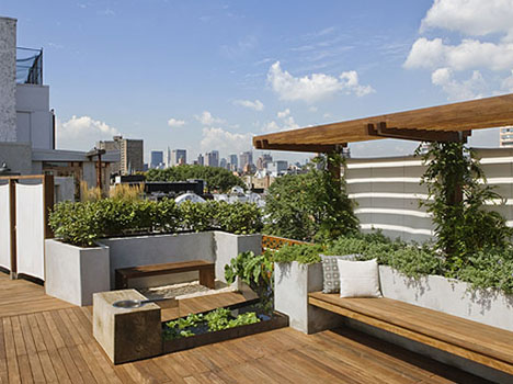 Urban Oasis Rustic Modern Rooftop Garden Deck Design Designs Ideas On Dornob