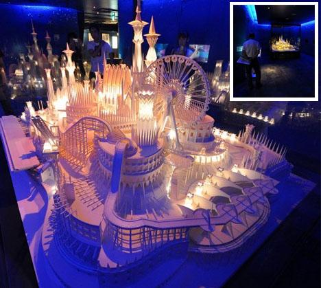 paper miniature colorful castle