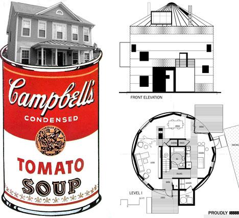 House In A Can Prefab Metal Off The Shelf Grain Silo Homes