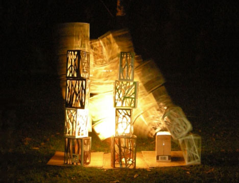 recycled diy light towers
