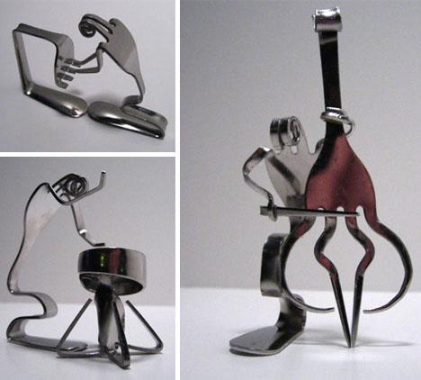recycled folk fork art