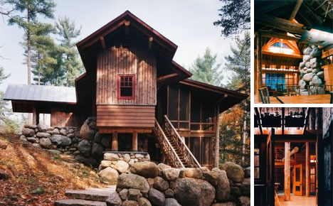 rustic small log cabin