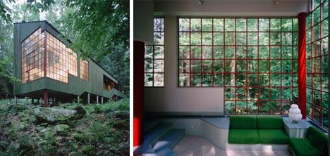 rustic small modern cabin