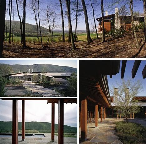 rustic stone mountain home