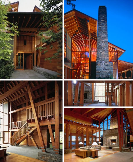 Rustic modern rural retro 6 forest mountain homes for Modern rustic architecture