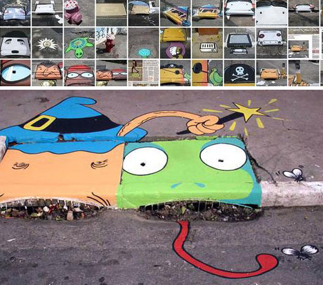 street art drain graffiti