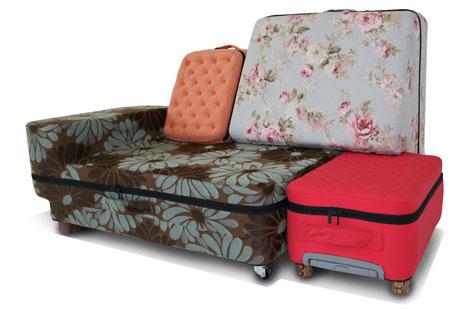 transforming suitcase sofa