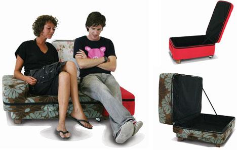 transforming travel suitcase