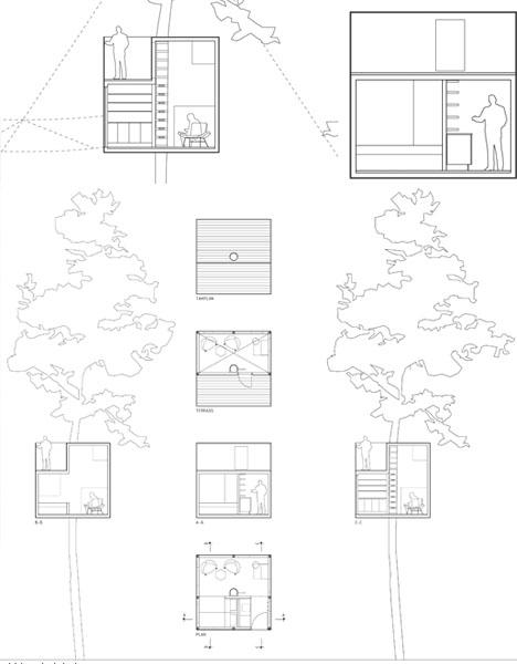 tree hotel design drawing