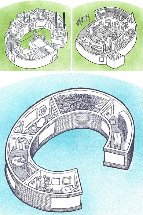 3d room plans as letters