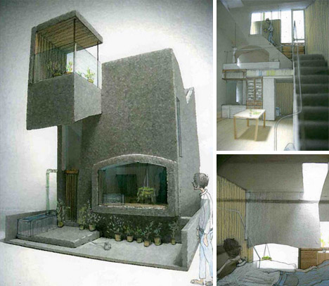 architectural collage model drawing