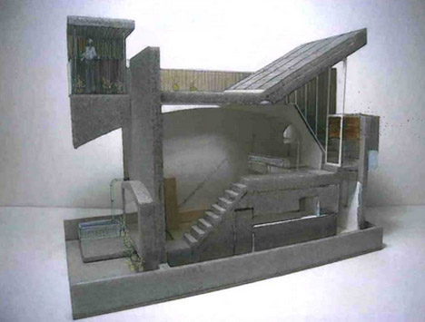 architectural collage model exterior