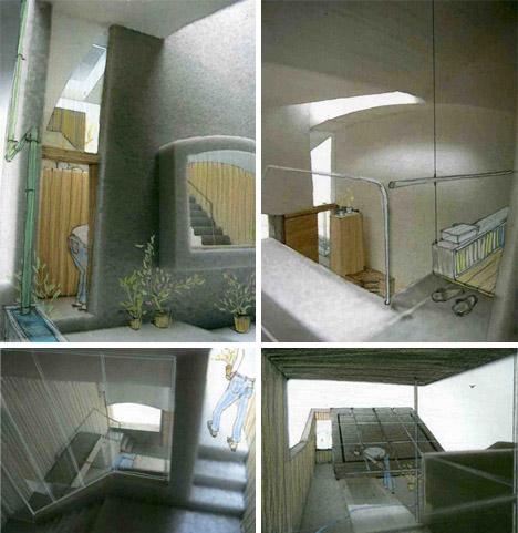 architecture collage interior
