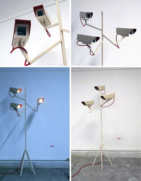 camera security floor lamp