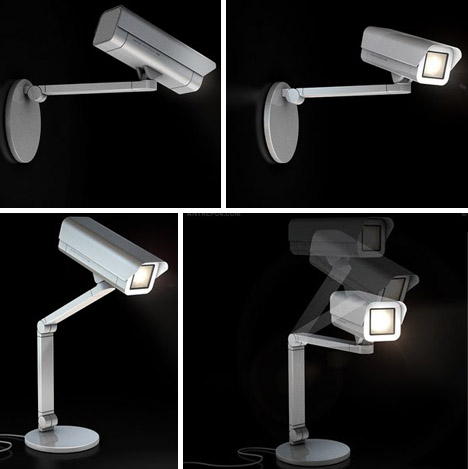 camera security wall table lamps
