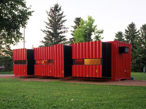 cargo container home exterior