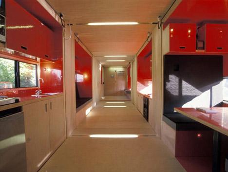 cargo container home interior
